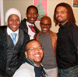 photo of group of black gay men